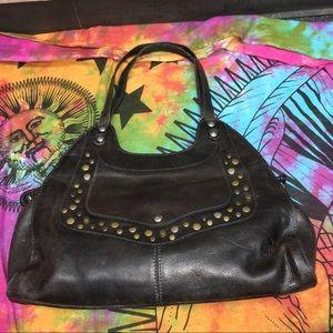 Patricia Nash Brown Ergo Studded Leather Purse
